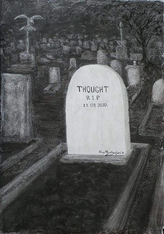 Conceptual Drawing - Thoughts  Silent As The Grave by Alex Mortensen