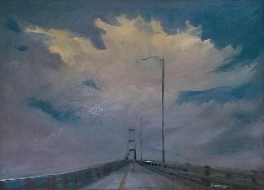Thousand Island Bridge Storm Brewing by Cheryl LaBahn Simeone