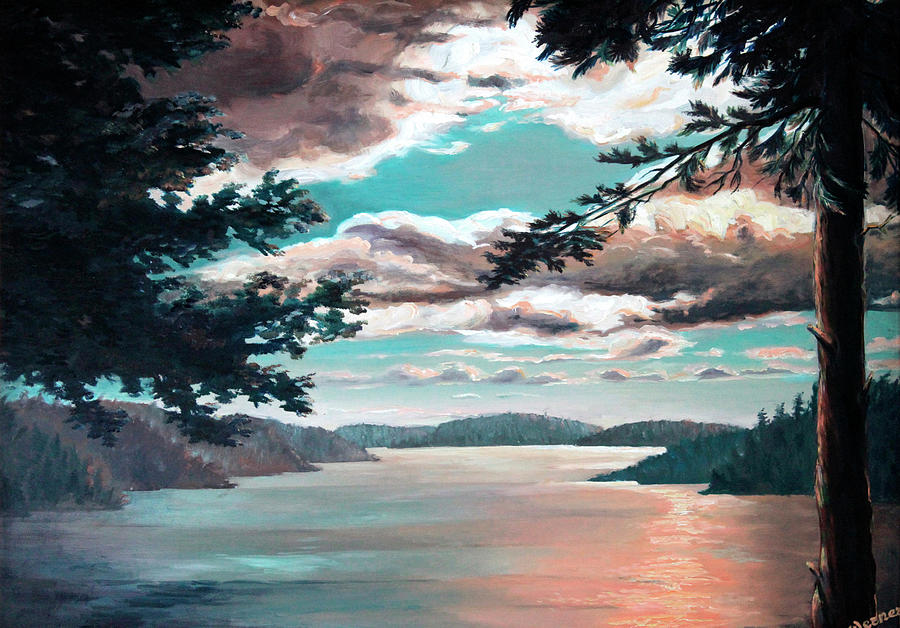 Thousand Island Sunset Painting