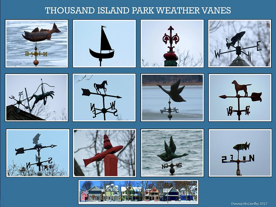 Thousand Island Park Weather Vanes Photograph