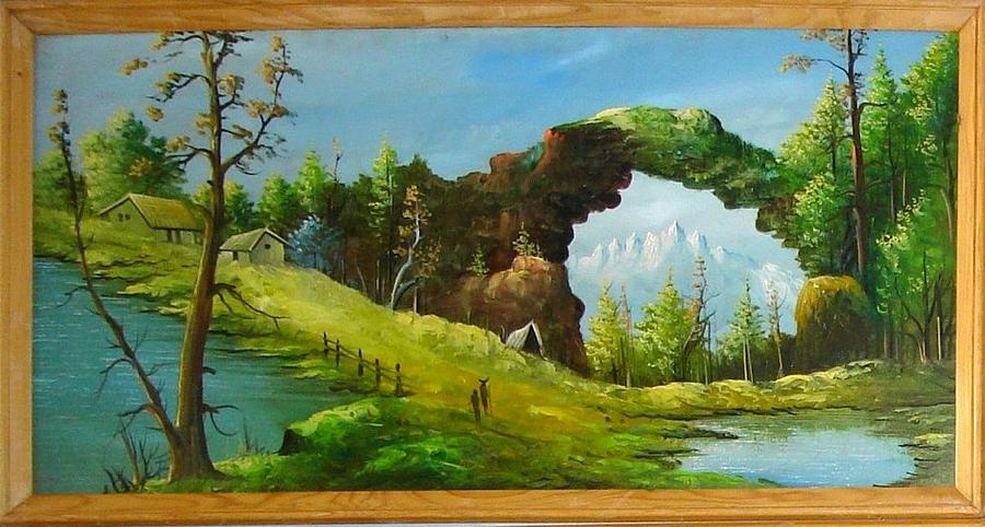 Landscape Painting - thousand years ago in India  by Prashant