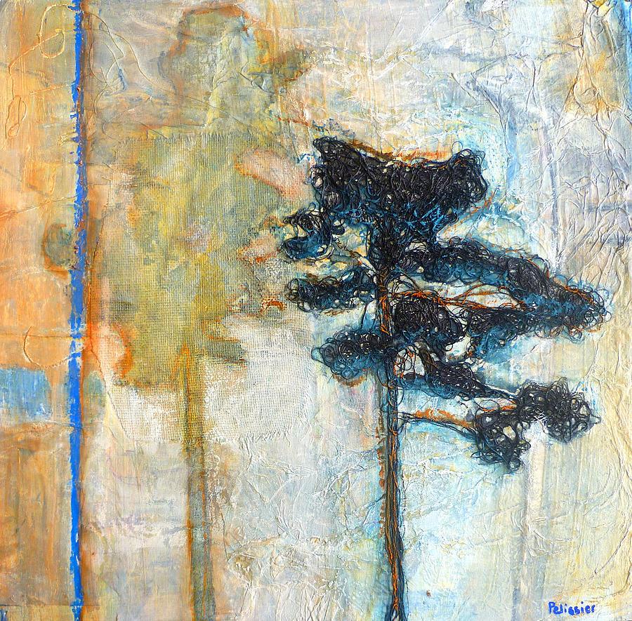 Acrylic Painting - Thread Tree by Sandrine Pelissier