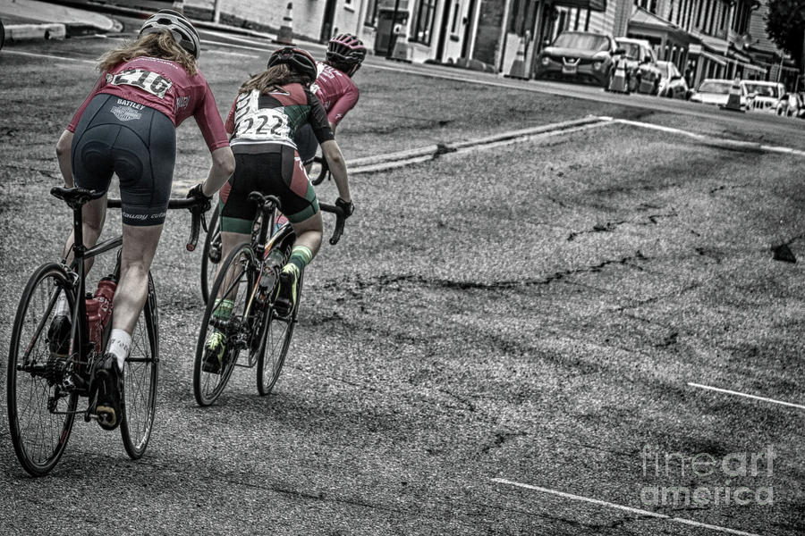 Cycling Photograph - Threading The Hill  by Steven Digman