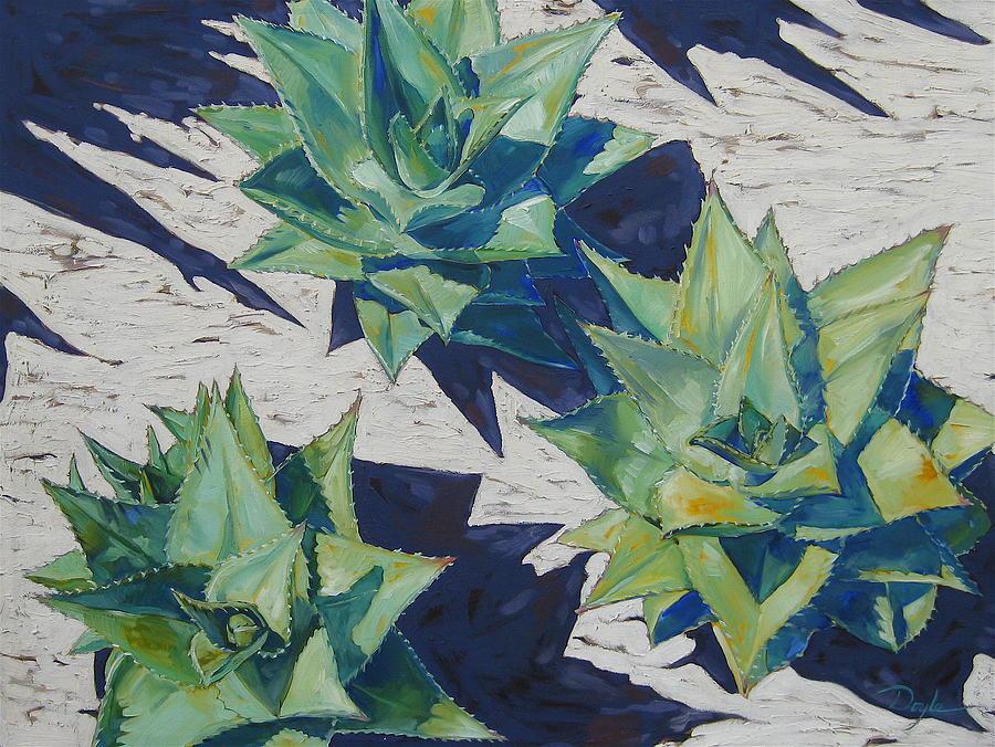 Botanical Painting - Three Aloe by Karen Doyle