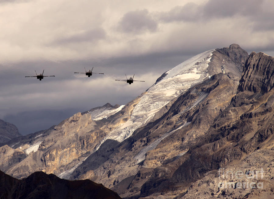 Alps Photograph - Three Amigos by Angel  Tarantella