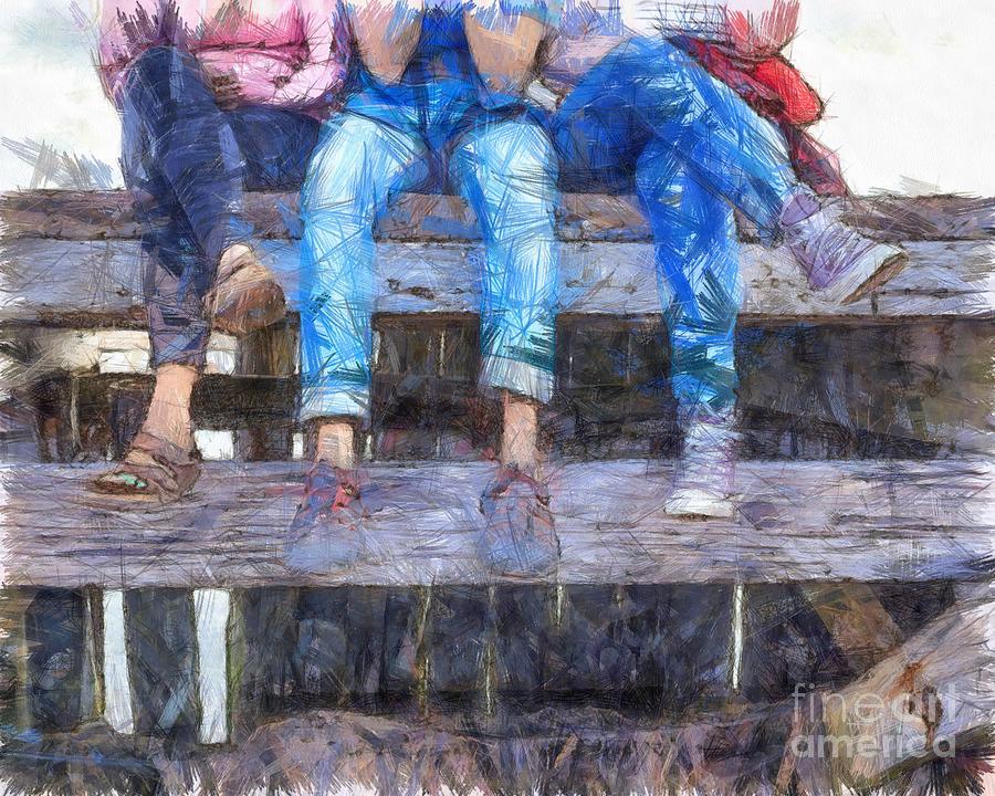 Pencil Digital Art - Three Amigos by Edward Fielding