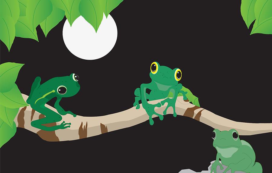 Frog Digital Art - Three Amigos by Kori Jones