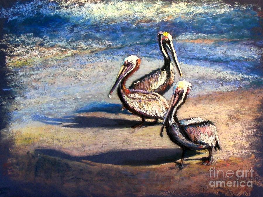 Birds Painting - Three Amigos by Shirley Leswick
