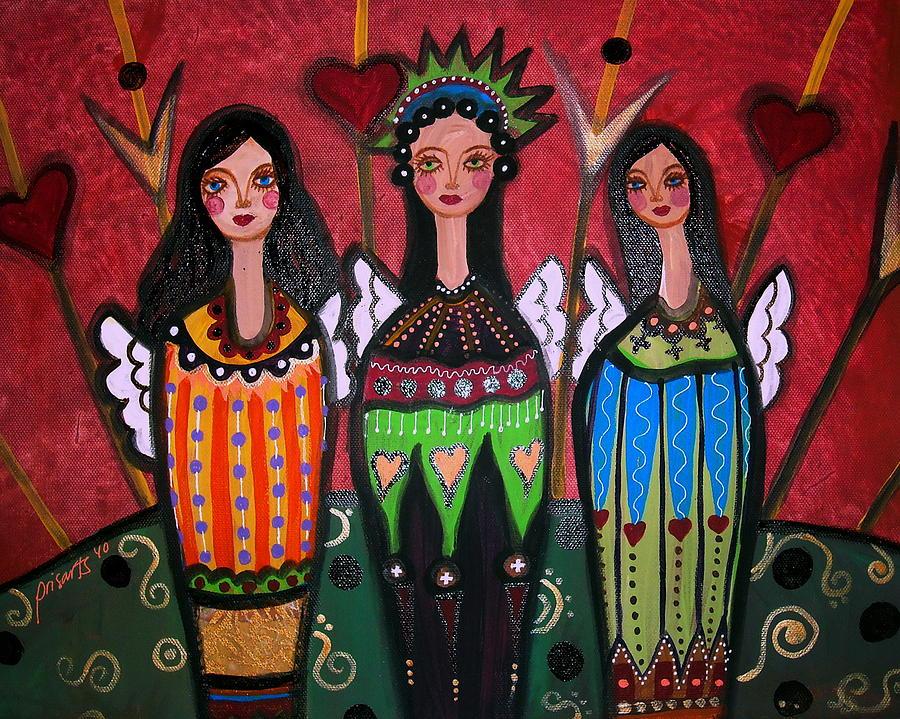 3 Painting - Three Angels by Pristine Cartera Turkus