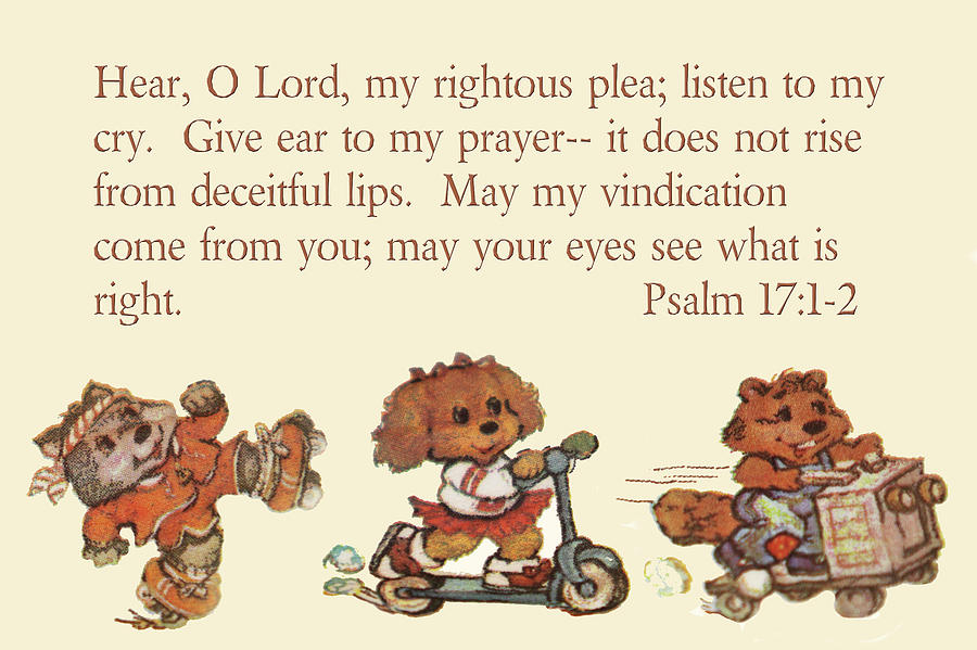 Scripture Photograph - Three Animal Characters Ps. 17 V 1-2 by Linda Phelps