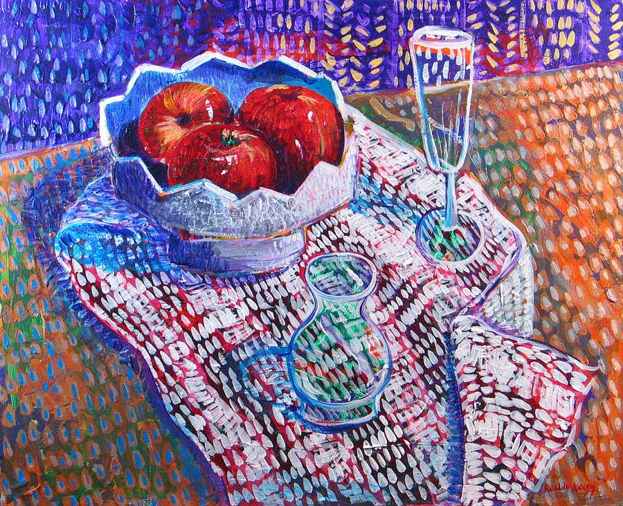 Still Life Painting - Three Apples by Rollin Kocsis