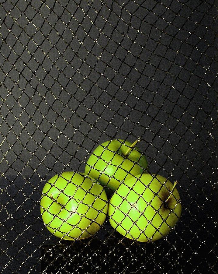 Three Apples Photograph - Three Apples by Viktor Savchenko