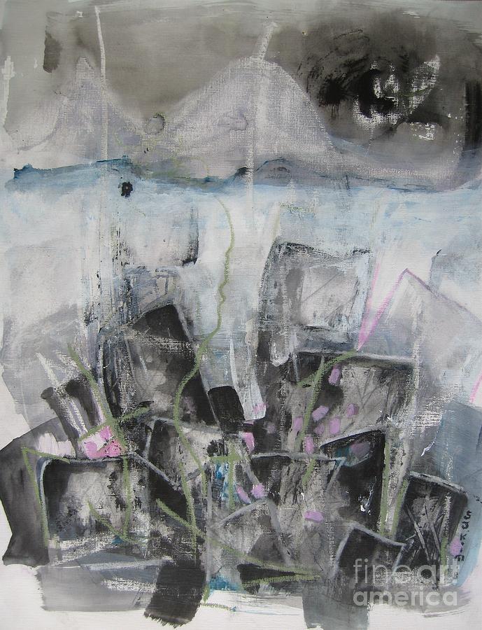 Cemetery Painting - Three Arms by Seon-Jeong Kim