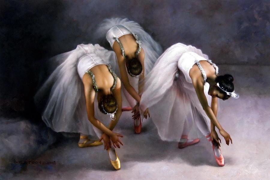 Three ballerina by Yoo Choong Yeul