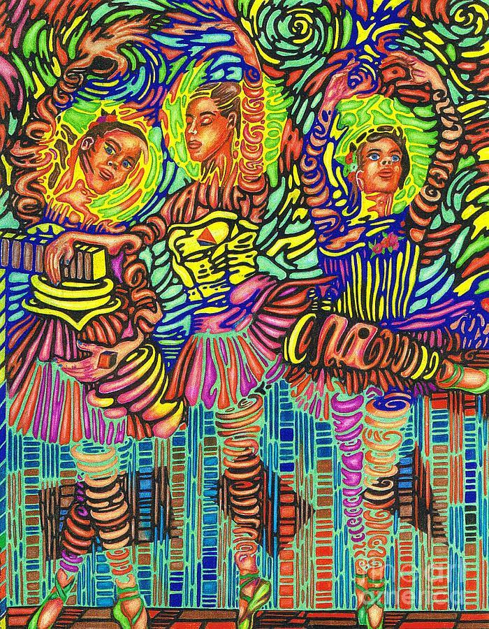 Three Ballerinas by Justin Jenkins