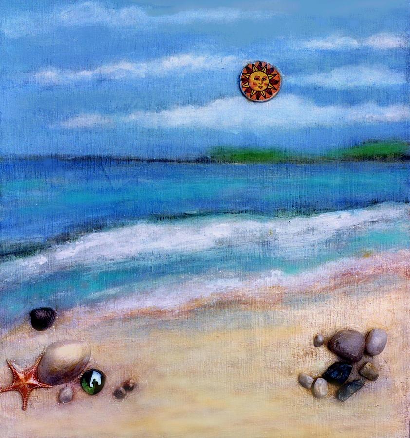 Beach Painting - Three Beaches A by Mary Ann  Leitch
