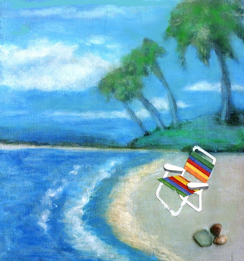 Beach Painting - Three Beaches B by Mary Ann  Leitch