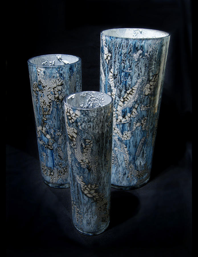 Three Blue Cylinders by Christopher Schranck