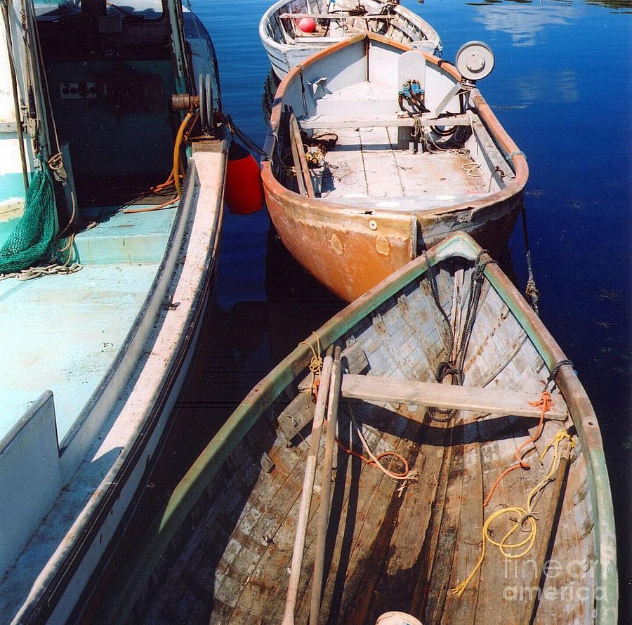 Boats Photograph - Three Boats by Andrea Simon