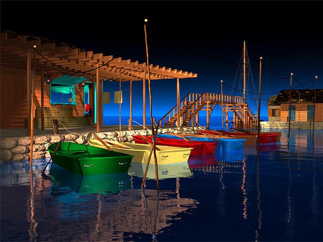 Boat Rentals Digital Art - Three Boats by Stephen Harlan