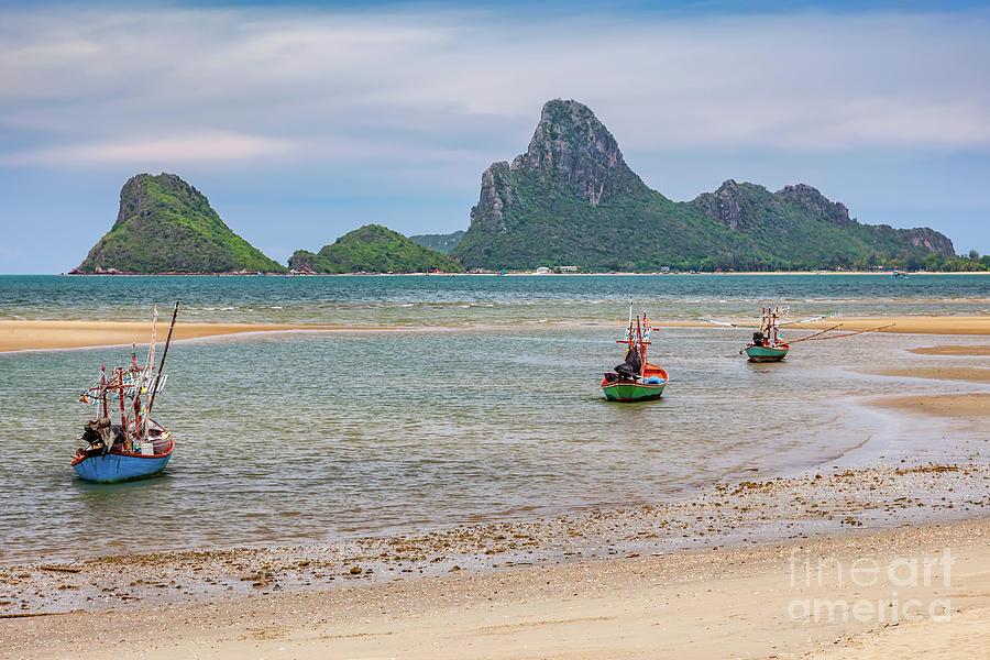 Thailand Photograph - Three Boats Thailand by Adrian Evans