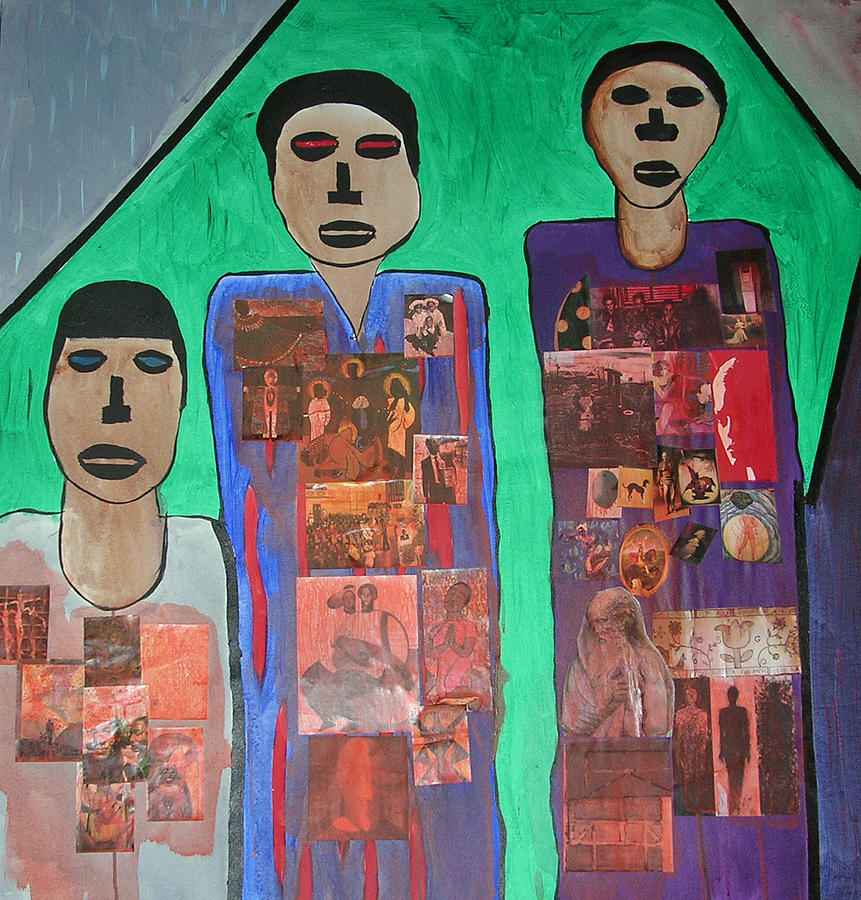 Three Brothers Painting by Russell Simmons
