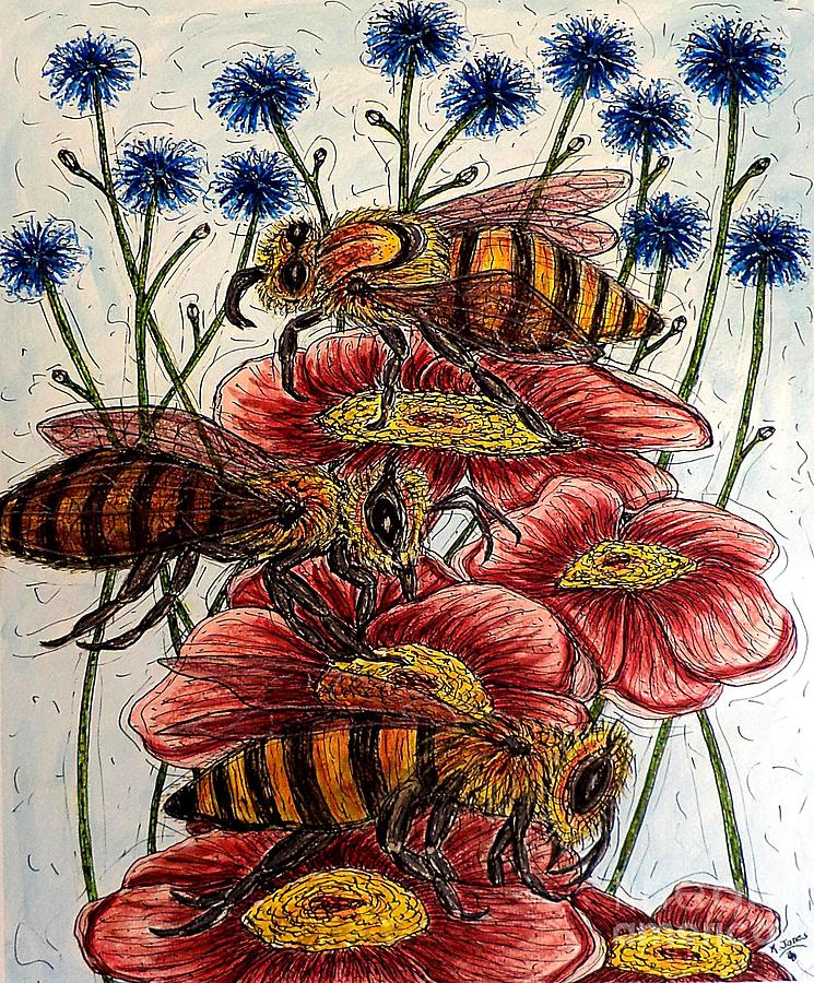 Three Busy Bees by Kim Jones