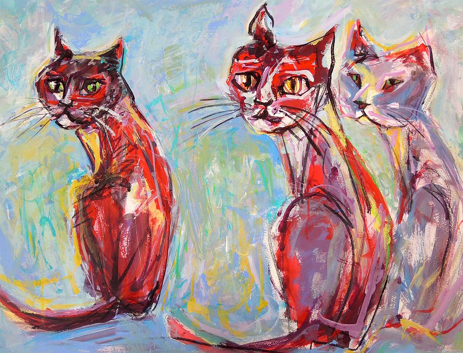 Three Cool Cats by Mary Schiros