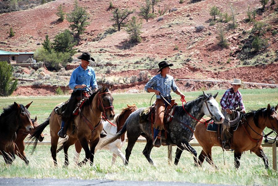 Three Cowboys by Jim Goodman