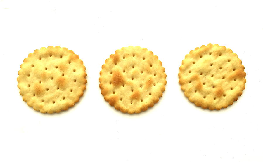 Crackers Photograph - Three Crackers by Caroline Reyes-Loughrey