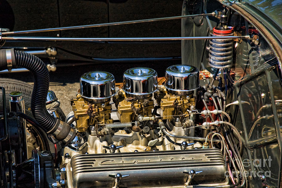 Corvette Photograph - Three Duces by Edward Sobuta