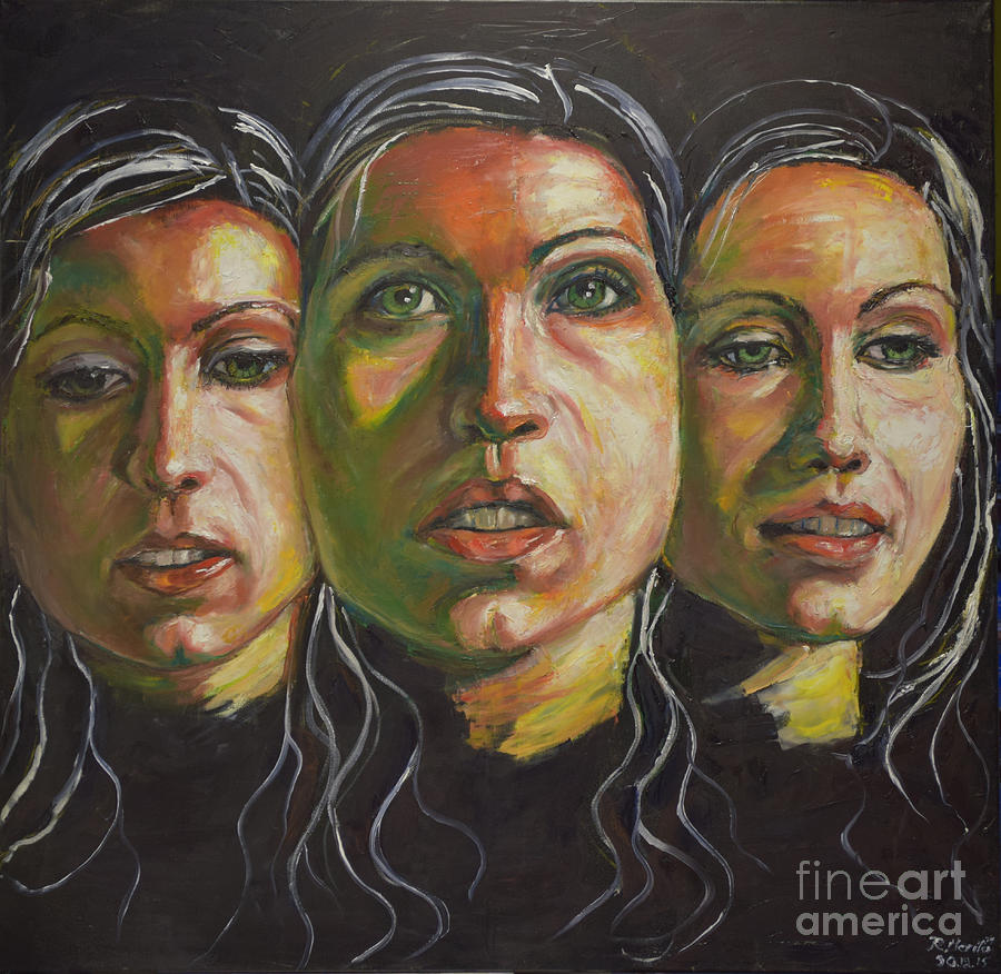 Three Faces 1 by Raija Merila