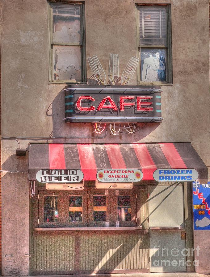Beale Street Photograph - Three Forks Cafe by David Bearden