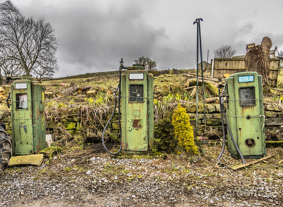 Three Gas Tanks Photograph