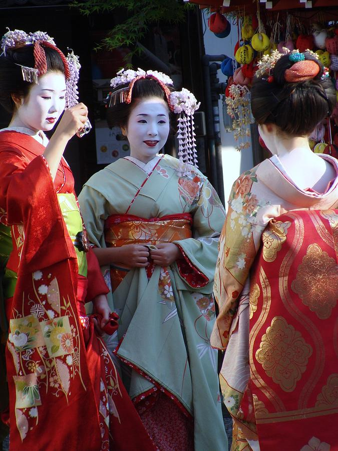 Japan Photograph - Three Geisha by Emma Manners