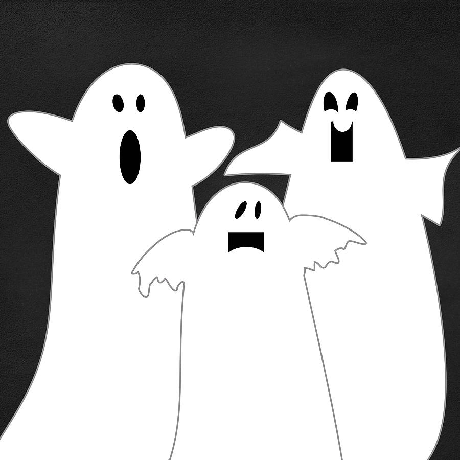 Ghosts Mixed Media - Three Ghosts by Linda Woods