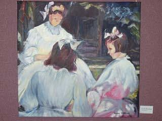 Children Painting - Three Girls Reading by Eileen Kasprick