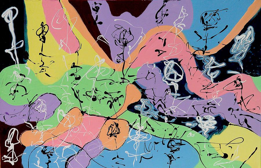 Paintings Painting - Three Graces 3 by Wayne Salvatore