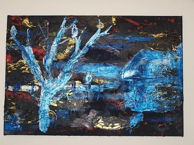 Three Hawks Painting by Jodi Drinkwater