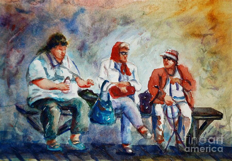 Portrait Painting - Three In San Diego by Joyce A Guariglia