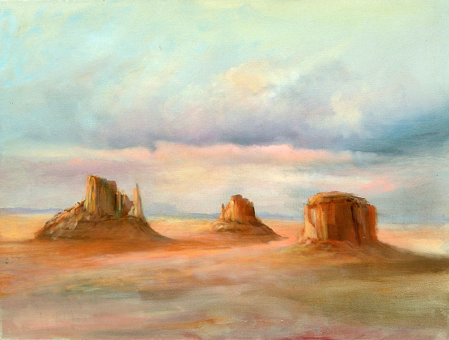 Southwest Painting - Three Kings by Sally Seago