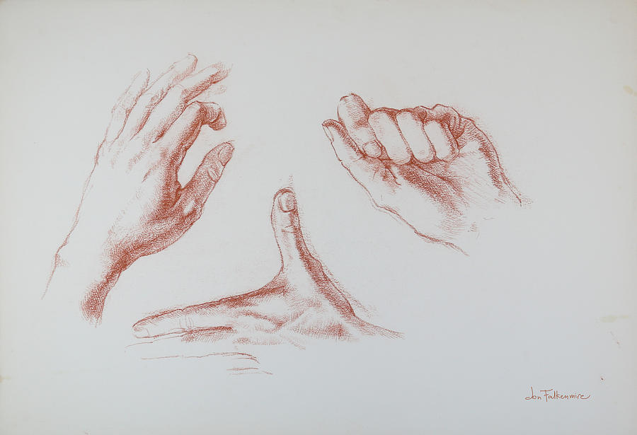 Three Left Hands, Student Work. Drawing