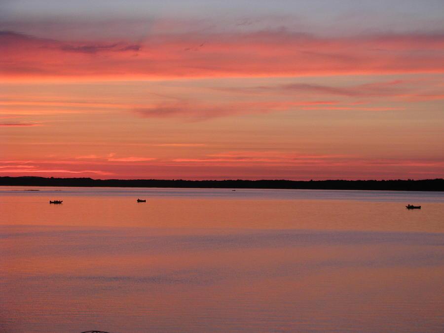 Landscape Photograph - Three Litte Fisherman by Hasani Blue