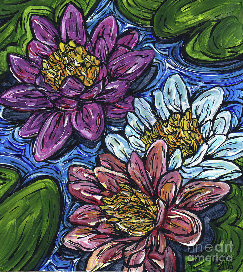 Three Lotus by Tracy Levesque