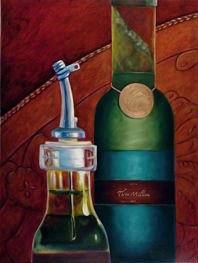 Olive Oil Painting - Three Million Net by Shannon Grissom