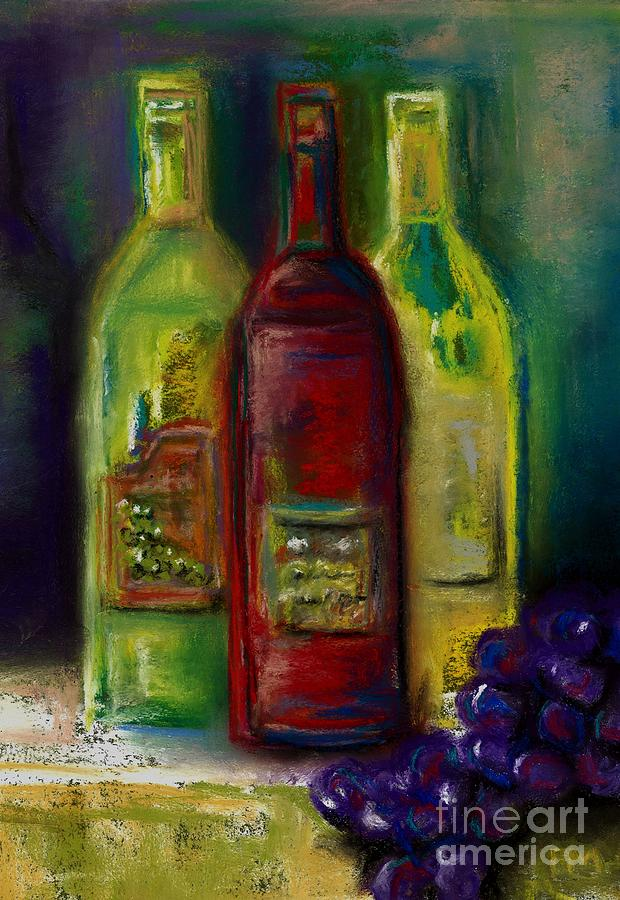 Wine Painting - Three More Bottles Of Wine by Frances Marino