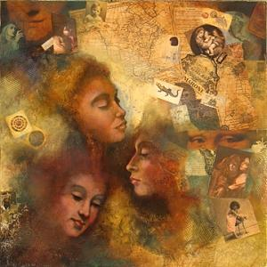 Mystery Painting - Three Muses by Roberta Smith