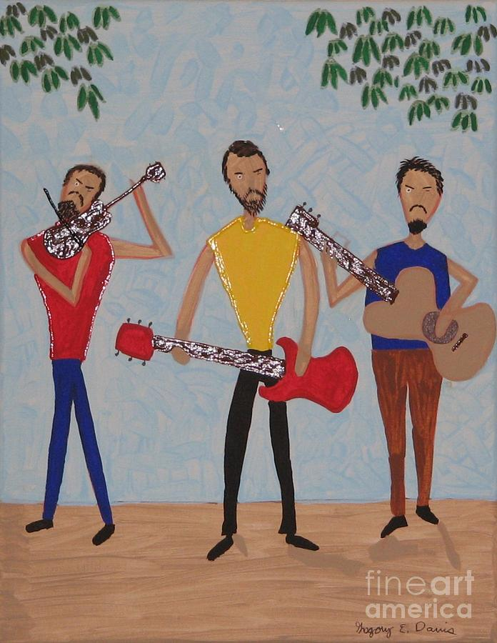 Singing Painting - Three Musicians by Gregory Davis