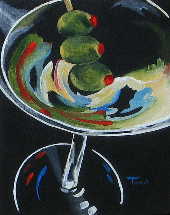 Martini Painting - Three Olive Martini V  by Torrie Smiley