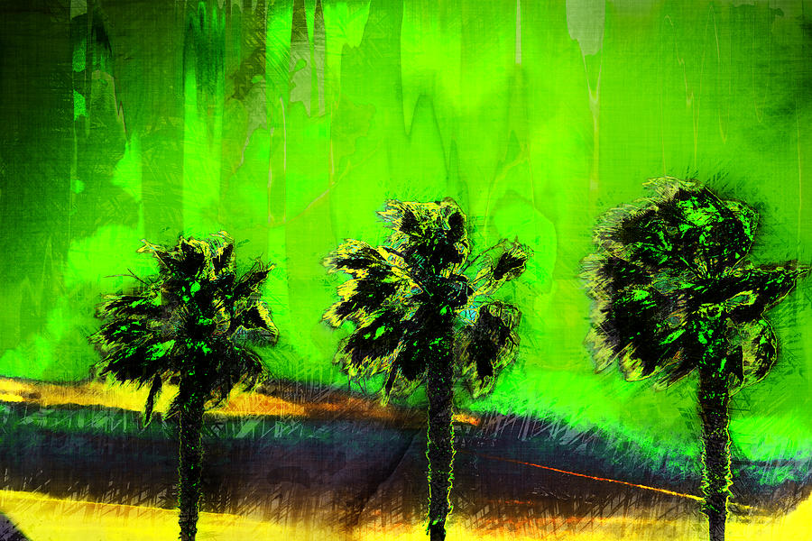 Palms Digital Art - Three Palms IIi by Ronald Bolokofsky